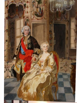 "ELLA KNIGHT, Amsterdam, ""Carlo iii di Borbone and wife"", Oil, 2007"