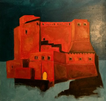 THE CASTEL DELL'OVO NAPLES - ACRYLIC BY RAFFAELE PISANO 2016