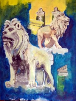 LIONS OF PIAZZA DDEI MARTIRI - NAPLES - ACRYLIC BY RAFFAELE PISANO 2016